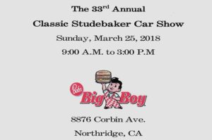 Classic Studebaker Car Show @ Bob's Big Boy | Northridge | CA | United States