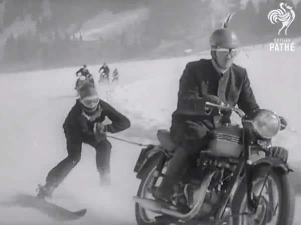 Dangerous Sport: Motor Skiing in 1955