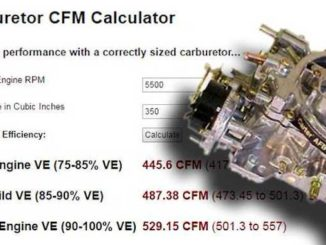 How To Calculate Size of Carburetor Needed in CFM