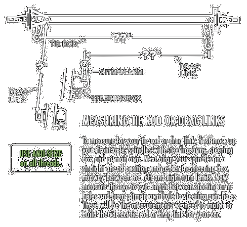 Measuring for Tie Rods