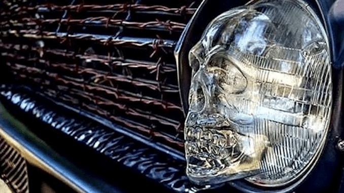 Skull Headlight Covers