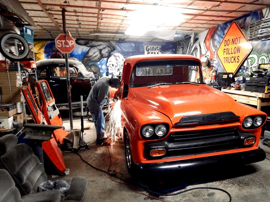Suicide Door Install \u2013 1958 Chevrolet Truck 6 & Suicide Door Install - 1958 Chevrolet Truck 6 ~ Roadkill Customs