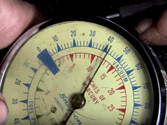 Automotive Vacuum Gauge Engine Tests