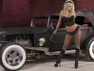 The Black Bitch ~ Leather Wrapped Hot Rod