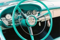 Classic Teletouch Steering Wheel in an Edsel