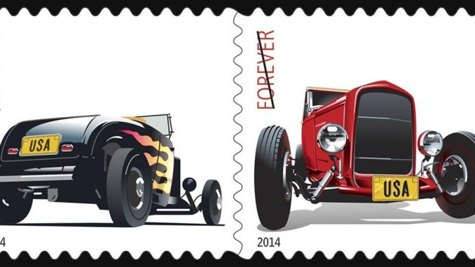 Hot Rods Forever US Postage Stamps