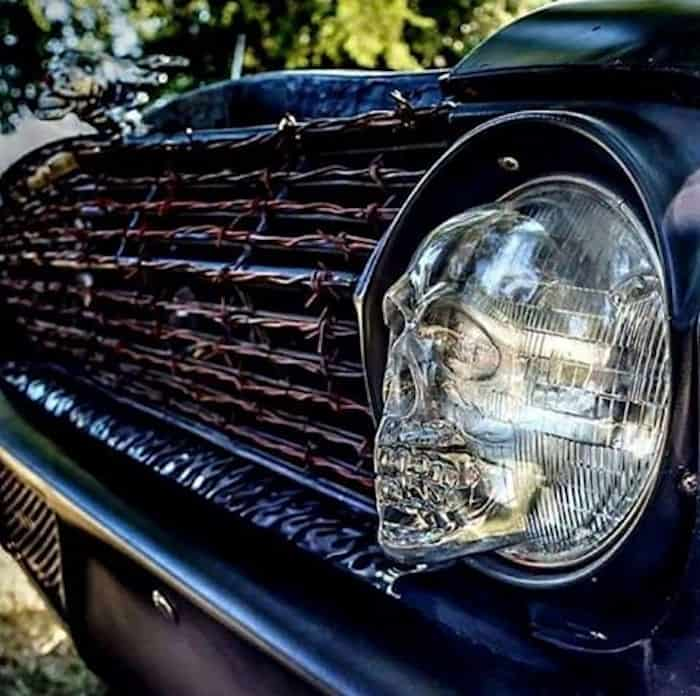 Skull Headlight Covers for 7″ Headlights