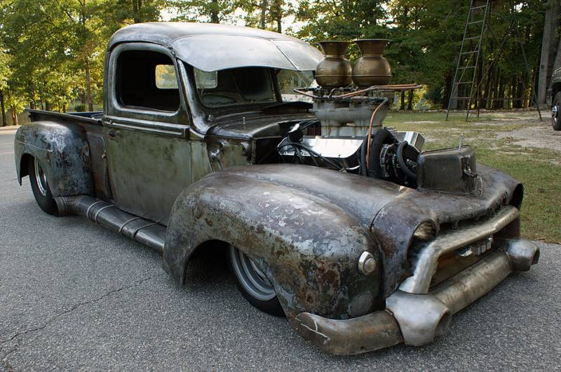 DELIVERANCE ~ 1947 Ford Pro-Street Rat Rod Pickup ~ Roadkill
