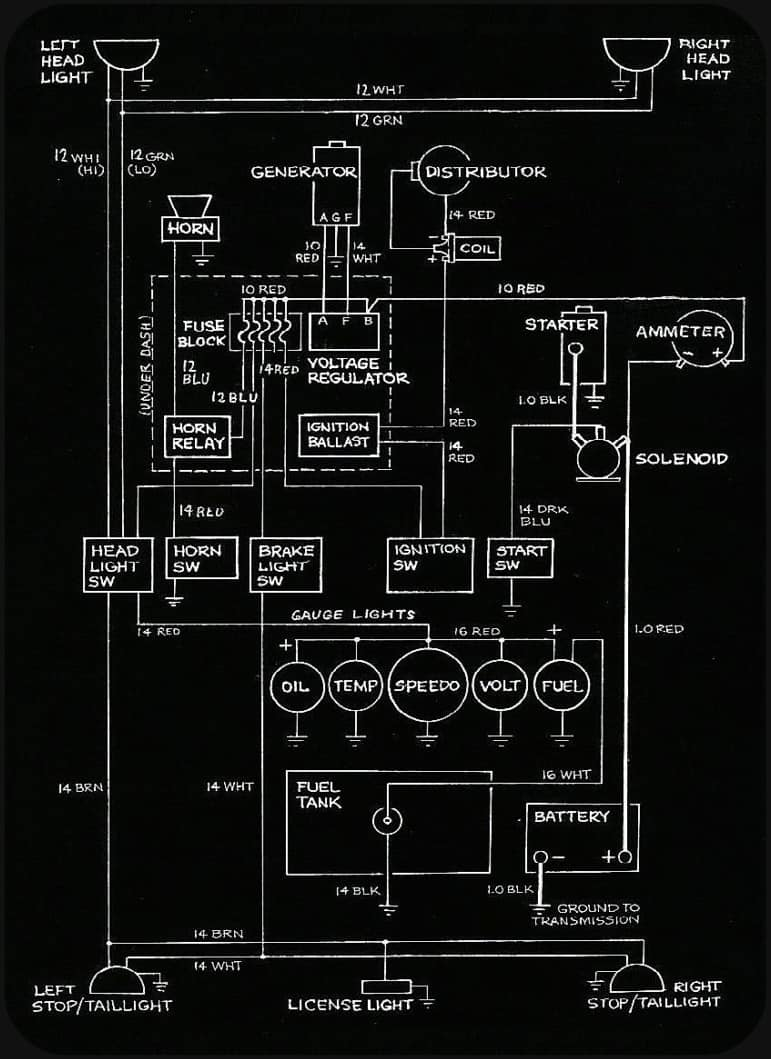 6 Volt Wiring Diagram from m.roadkillcustoms.com