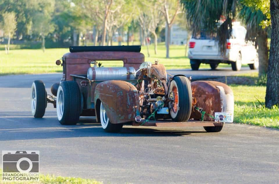Wes Smith's 1934 Ford Truck, Trailer and After Hours Bike