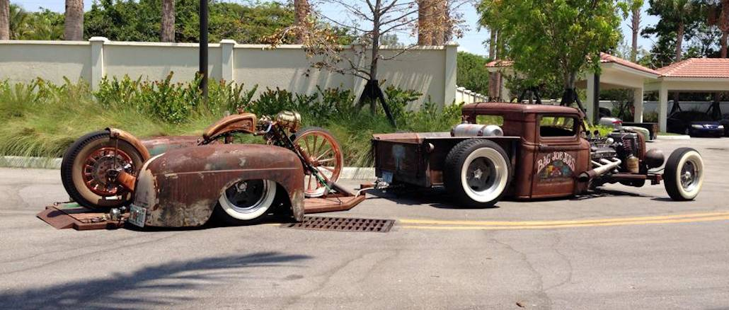 Wes Smith's 1934 Ford Truck, Trailer and After Hours Bike ~ Roadkill