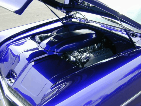 The NewMad - 1955 Chevrolet Nomad Custom Engine Bay