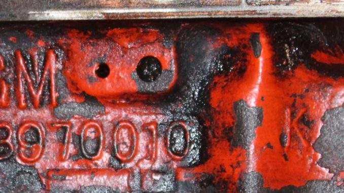 Chevrolet Engine Block Numbers