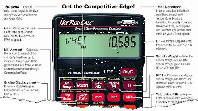 Mr  Gasket Hot Rod Calc - Street and Strip Performance