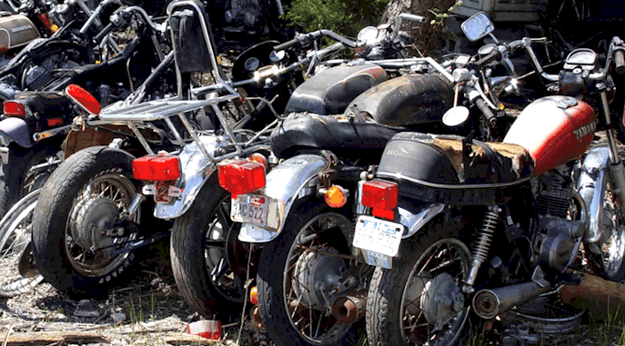Salvage Motorcycles, Project and Part Bikes
