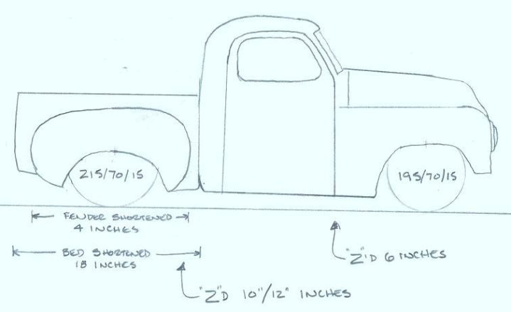 1949 Sudebaker 2R5 Pickup Truck Build Plan