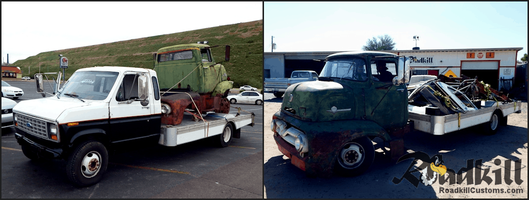 1956 Ford COE / Ford C-600 Chassis / Body Swap