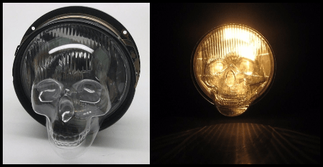 Skull Headlight Covers
