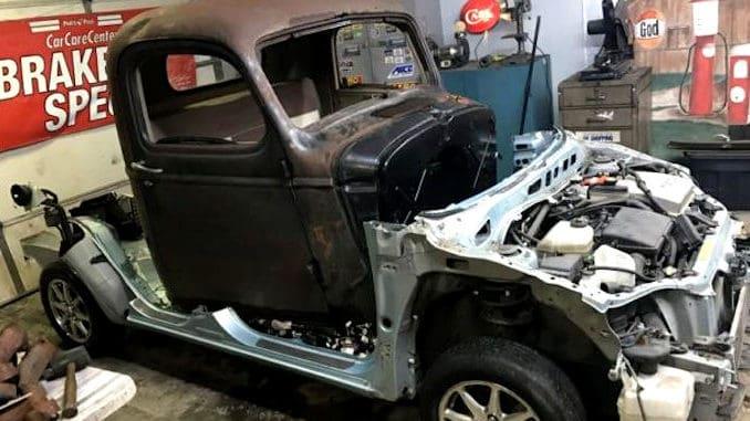 1946 Chevrolet Truck / 2002 Prius Unibody Chassis Swap