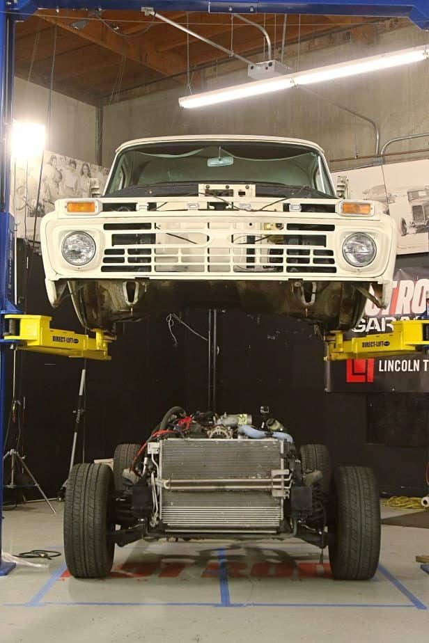 Chassis Swapping a '66 Ford F-100 with a Crown Victoria Police Car