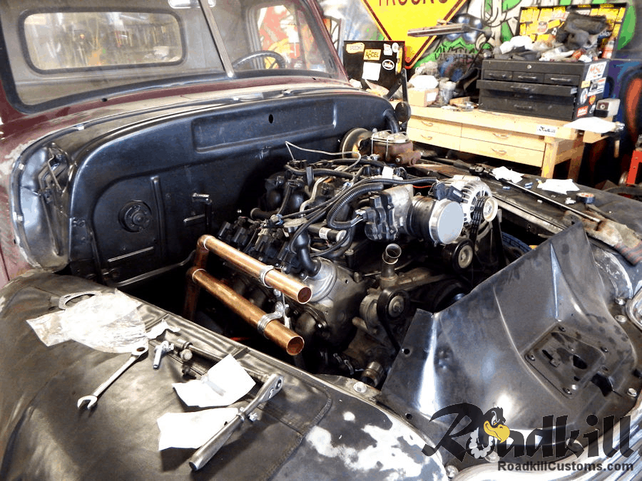 LS Motor Swap ~ 1951 Chevrolet 3100 with Rear-Cooled 6.0 Liter LQ4