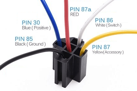 Automotive 5-Pin Relay ~ Common Wire Colors