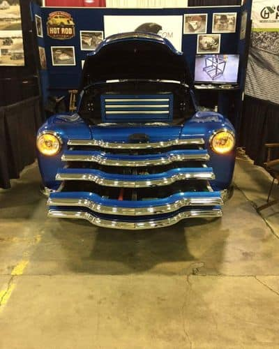 1950 Chevrolet 3100 All-Steel Toolbox Hood and Drawers Open