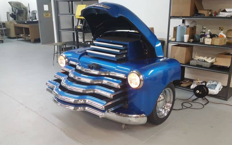 1950 Chevrolet 3100 All-Steel Toolbox Open Hood and Drawers