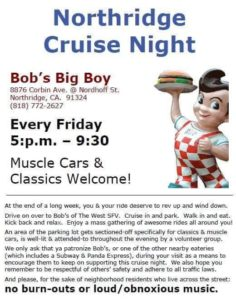 Bob's Big Boy Northridge Cruise Night @ Bob's Big Boy | Los Angeles | California | United States