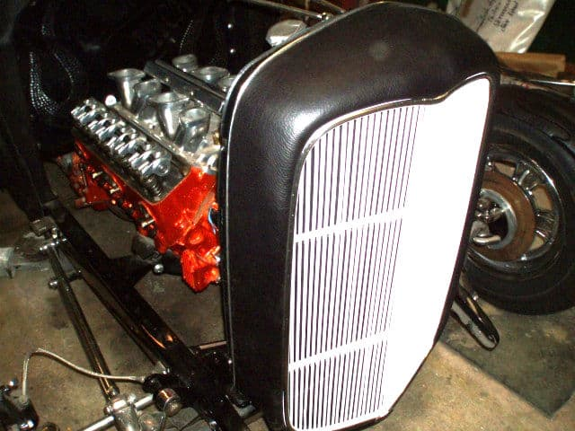 The Black Bitch Leather Wrapped Hot Rod Grill