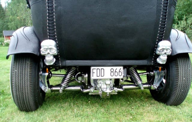 The Black Bitch Leather Wrapped Hot Rod Rear View
