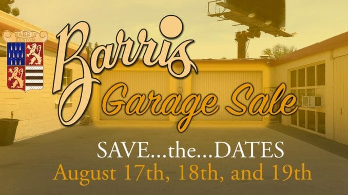 Barris Kustom Garage Sale