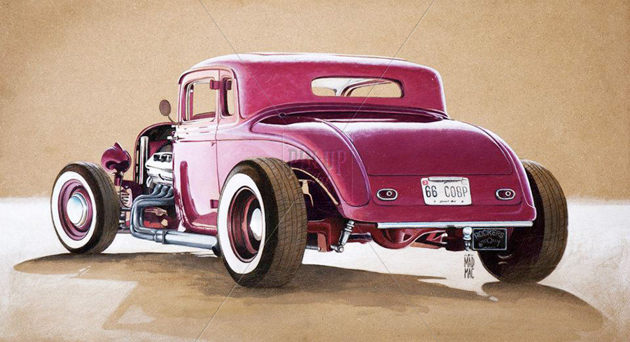 1933 Plymouth Hot Rod Coupe at Bonneville Salt Flat