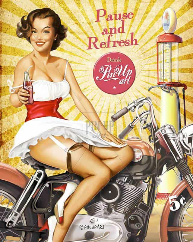 Harley Davidson pin up - Pause and Refresh