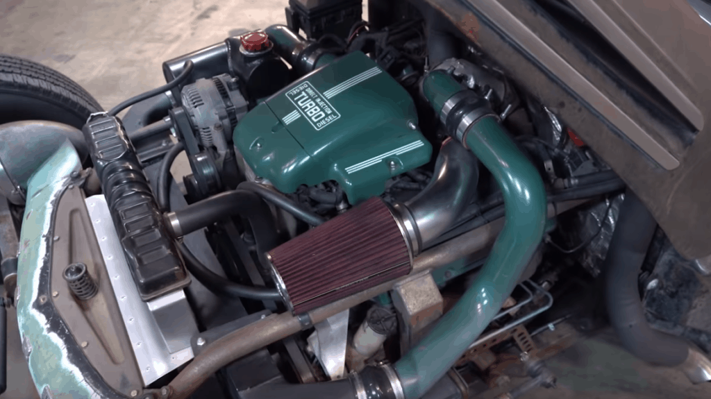 Homebuilt 1949 Ford Turbo Diesel Dually Hot Rod Engine