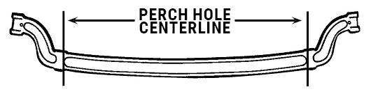 Straight Axle Perch Hole Measurement