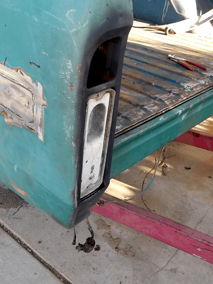 Tail Light Fuel Filler on a '71 Chevy C10