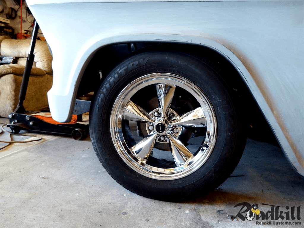 1955 Chevrolet 3100 Build - 18 Inch Riddler Wheels Front