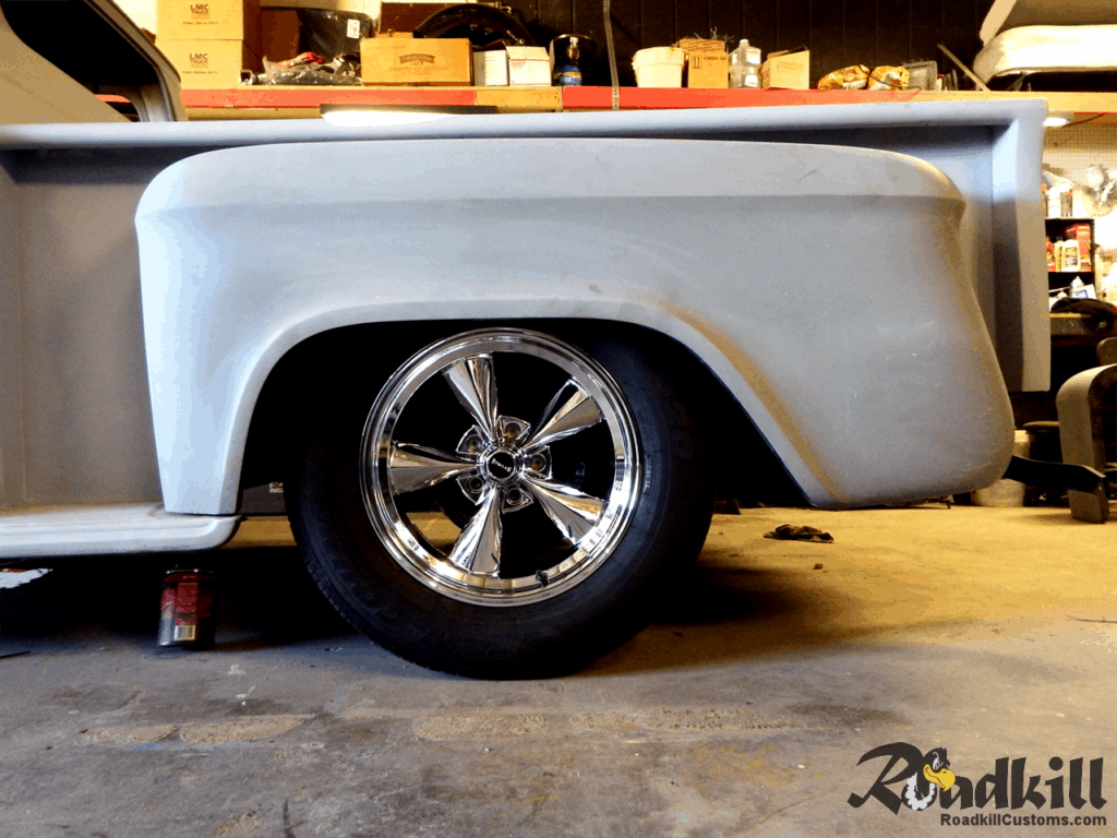 1955 Chevrolet 3100 Build - 18 Inch Riddler Wheels Rear