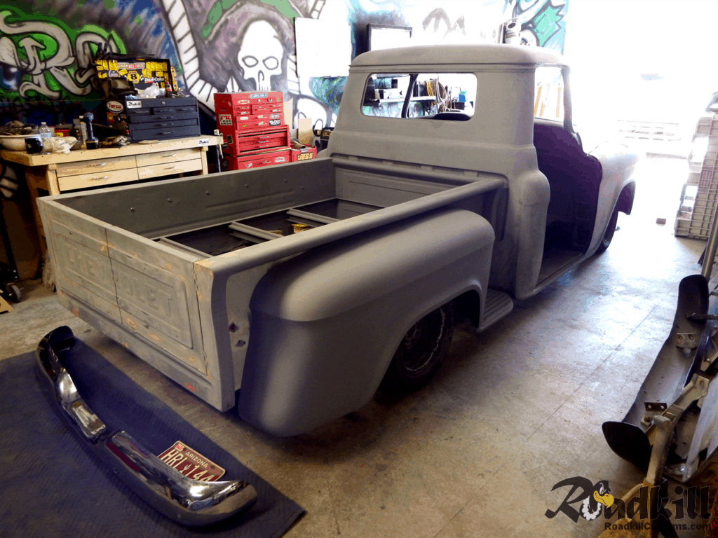 1955 Chevrolet 3100 Build - Rear Bumper Fit.