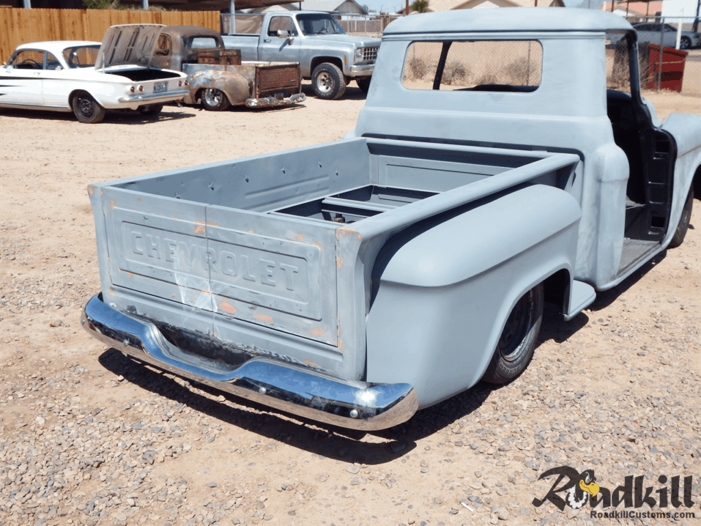 1955 Chevrolet 3100 Build - Rear Bumper.