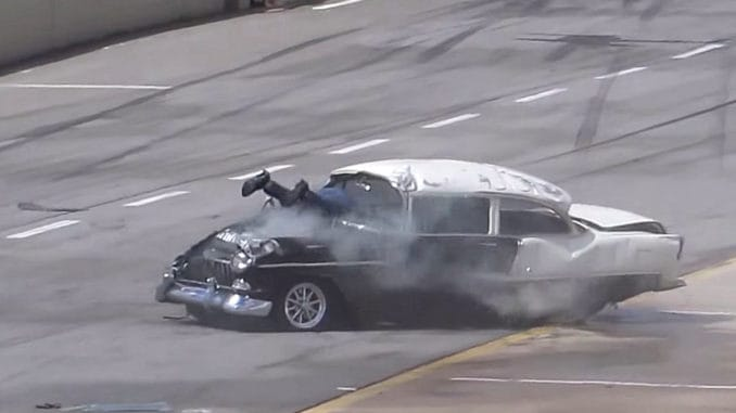 1955 Chevrolet Drag Race Crash
