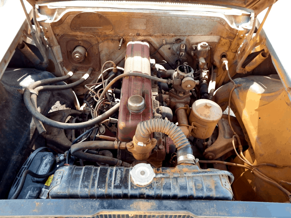 1958 Chevrolet Biscayne Engine Compartment Before