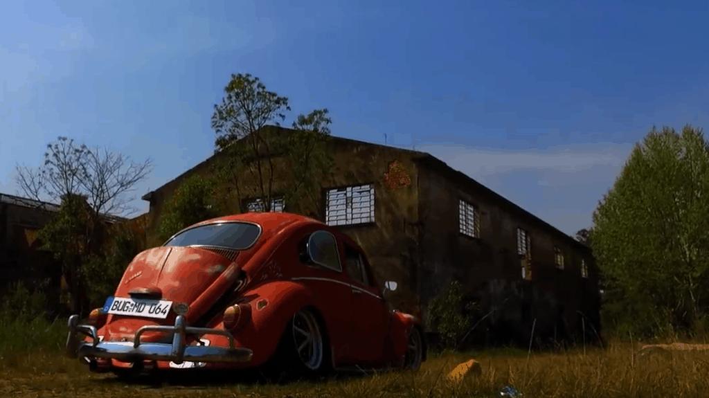 Murilo Dutra's Bagged '64 Beetle ~ Rear