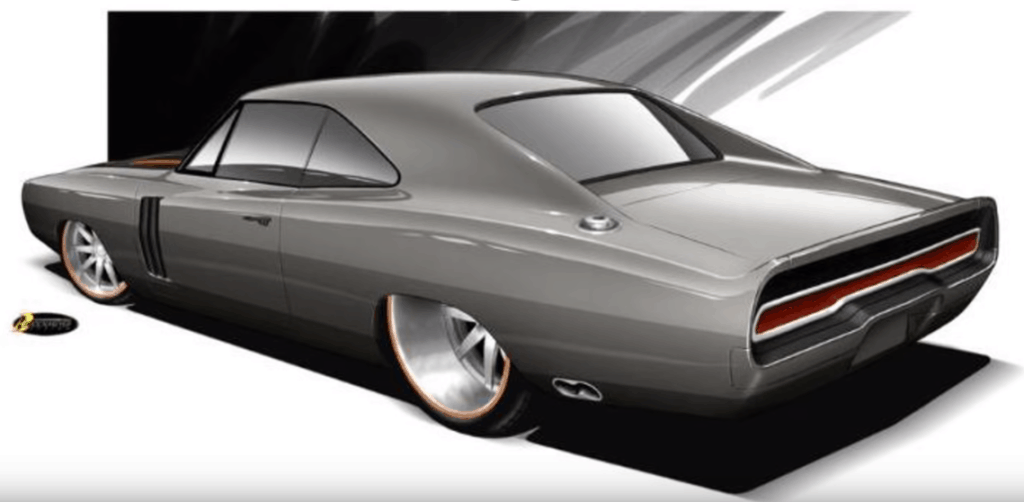 1970 Dodge Charger Restomod Concept Drawing Rear