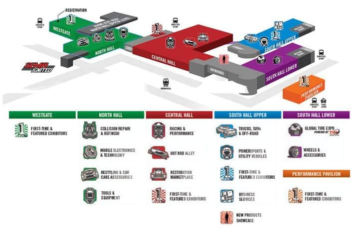 2019 SEMA Show Floorplan Map