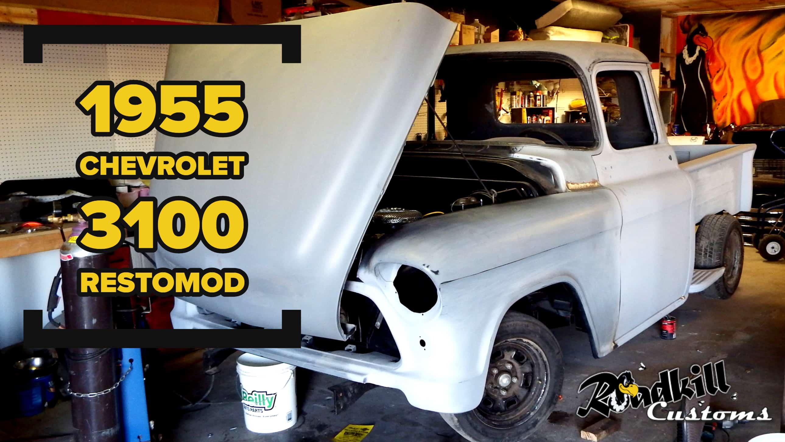 1955 Chevrolet 3100 RestoMod Build ~ Roadkill Customs. Versalift Bucket  Truck Wiring Diagram ...