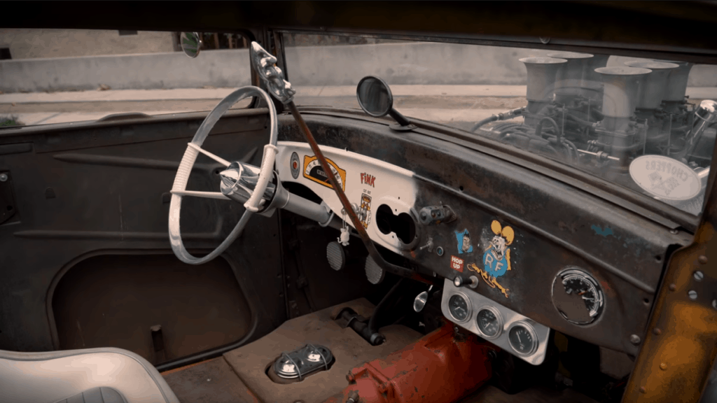 Bad News ~ 1927 Ford Model T Coupe Interior