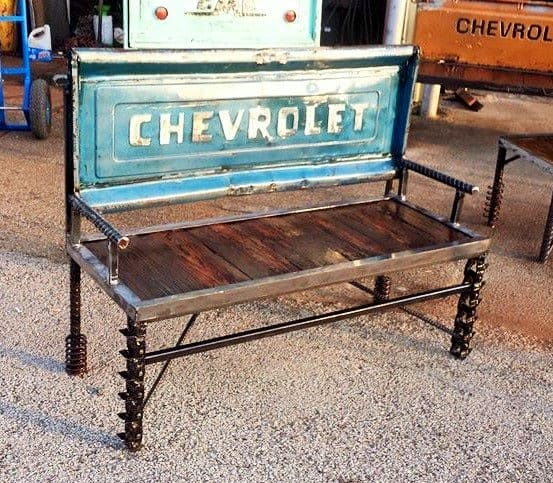 Chevrolet Tailgate Bench with Metal Base