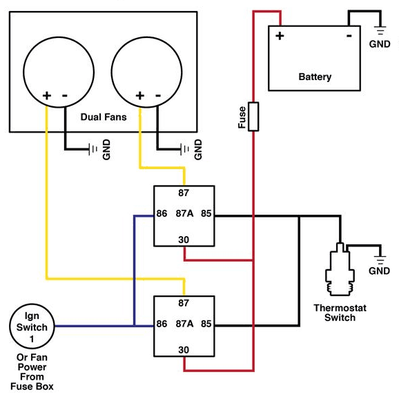 How To Wire Dual Electric Cooling Fans ~ Roadkill Customs Fans Wiring Diagram on
